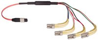 Custom Fiber Optic MTP to LC Cable from L-com