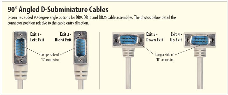 Right Angle D-Subminitaure Cable