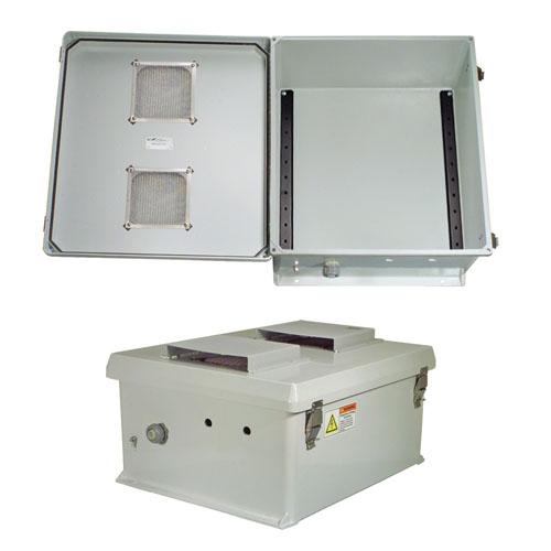 "Orbit 18186R NEMA Type 3R Outdoor Rainproof Enclosure Box 18/"" X 18/"" X 6/"""