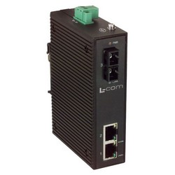 Picture of Industrial Ethernet Media Converter 2 10/100TX -1 SC Single mode 60km