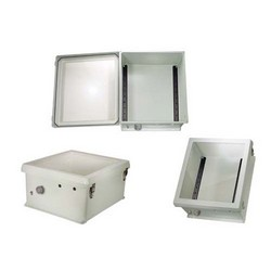Picture of 18x16x8 Inch Weatherproof NEMA 4X Windowed Enclosure-DIN Mounting Rails