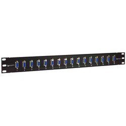 "Picture of 1.75"" x 19"" Panels with 16 DB9 Female / Female Couplers"