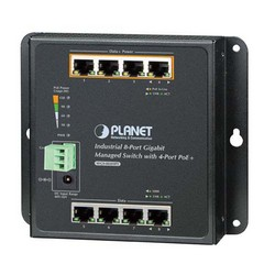 Picture of Industrial 8-Port 10/100/1000T Wall-Mount Managed Switch with 4-Ports PoE+