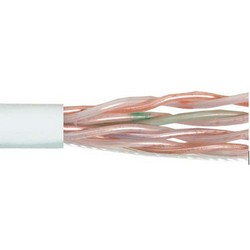 Picture of Category 6 UTP Riser Rated 23 AWG 4-Pair Solid Conductor White, 1KFT