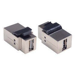 Picture of Shielded USB Keystone Style Coupler (A Female /A Female)