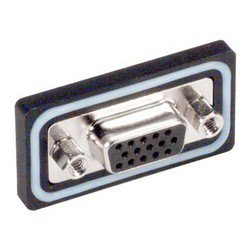 Picture of Waterproof Panel Mount Solder Cup D-Sub Connector, HD15F