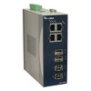 Picture of EtherWAN Managed Industrial Ethernet Switch 8 10/100TX Ports + 2 1000LX, SM, 10km, SC