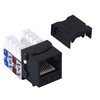 Picture of Category 5E Keystone Jack 110/RJ45 EIA568A/B Black