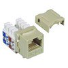 Picture of Category 5E Keystone Jack 110/RJ45 EIA568A/B Ivory