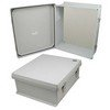 Picture of 16x14x6 Inch UL® Listed Weatherproof NEMA 4X Enclosure with Blank Non-Metallic Mounting Plate