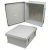 Picture of 16x14x6 Inch UL® Listed Weatherproof NEMA 4X Enclosure with Blank Aluminum Mounting Plate