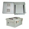 Picture of 18x16x8 Inch Weatherproof NEMA 3R Vented Enclosure-DIN Mounting Rails