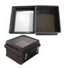 "Picture of 14x12x7"" UL® Listed Black Weatherproof Windowed NEMA Enclosure Only"
