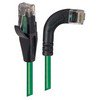 Picture of Category 5E Right Angle Patch Cable, Straight/ Right Angle Right Exit, Green, 10.0 ft