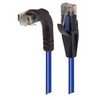 Picture of Category 5E Right Angle Patch Cable, Straight/Right Angle Down, Blue 25.0 ft
