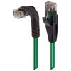 Picture of Category 5E Right Angle Patch Cable, Straight/Right Angle Down, Green, 25.0 ft