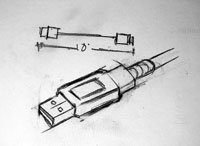 Custom USB Cable Assembly drawing