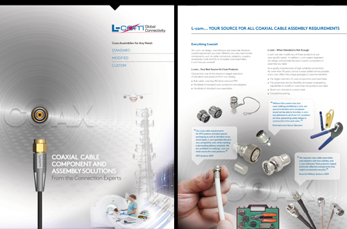 L-com Coaxial Cable Component and Assembly Solutions Brochure