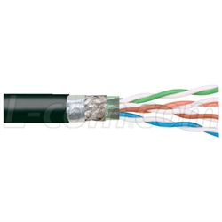 Cat5e CMX Outdoor/Industrial Hi-Flex FR-TPE Jacket, Dbl Shielded, Bulk Cable