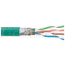 Cat5e ZH Hi-flex PUR Jacket, Dbl Shielded, 4 Pr. Str. 26 AWG, 1,000ft
